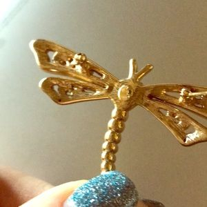 Jewelry - Gorgeous 14 karat Dragonfly